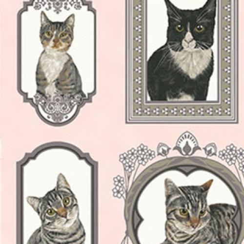 Cat's portrait, clothworks, available from Purple Stitches, Hampshire, UK