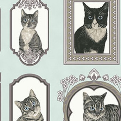 Cat's portrait, clothworks, available from Purple Stitches, Hampshire, UK