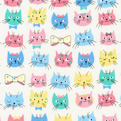 Whiskers & Tail; cat fabric, available from Purple Stitches, Hampshire, UK
