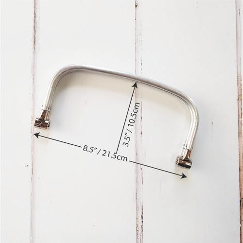 tubular internal hinge frame for carpet bag, available from Purple Stitches, Hampshire, UK