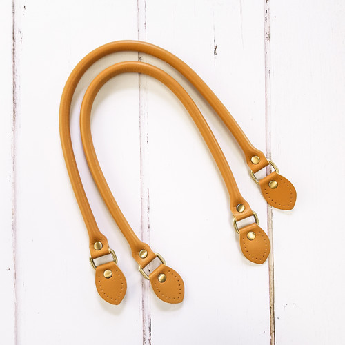 """22.5"""" faux leather handle with pre-punch holes, available from Purple Stitches, Hampshire, UK"""
