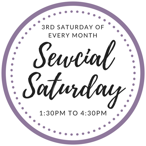 Sewcial Saturdays - 3rd Saturday of every month from 1:30pm