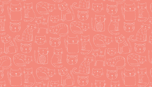 Kitty by Makower UK, novelty cat collection, available from Purple Stitches, Hampshire, UK