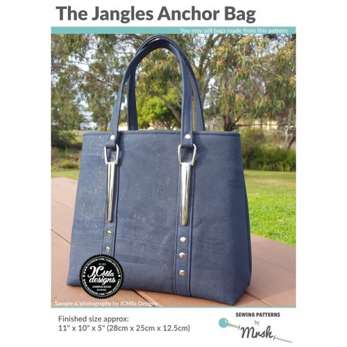 Printed Jangles Anchor Bag Pattern by Mrs H Sewing Pattern. Available at Purple Stitches, Hampshire UK