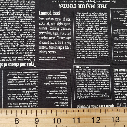 newspaper print, Novelty Sevenberry Japanese Cotton, from Purple Stitches UK