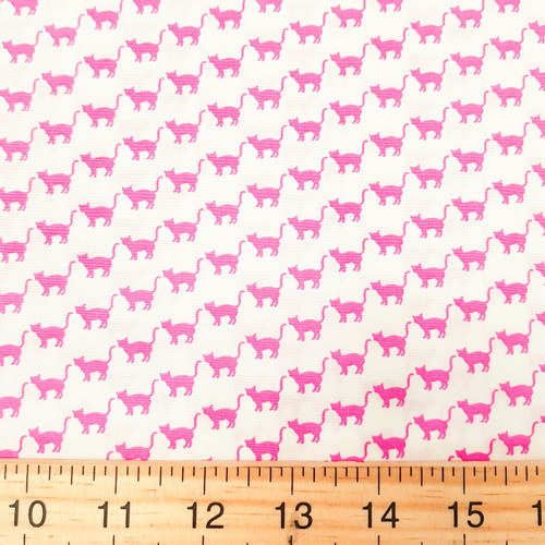 Cats print, Novelty Sevenberry Japanese Cotton, from Purple Stitches UK