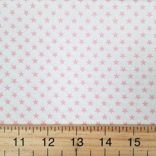 Pink Stars, Novelty Sevenberry Japanese Cotton, from Purple Stitches UK