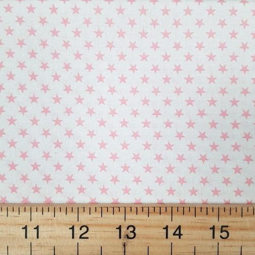 Pink Stars, Novelty Sevenberry Japanese Cotton, from Purple Stitches UK