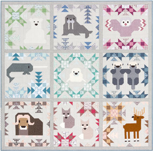 North Star paper quilt pattern by Elizabeth Hartman. Available at Purple Stitches in UK