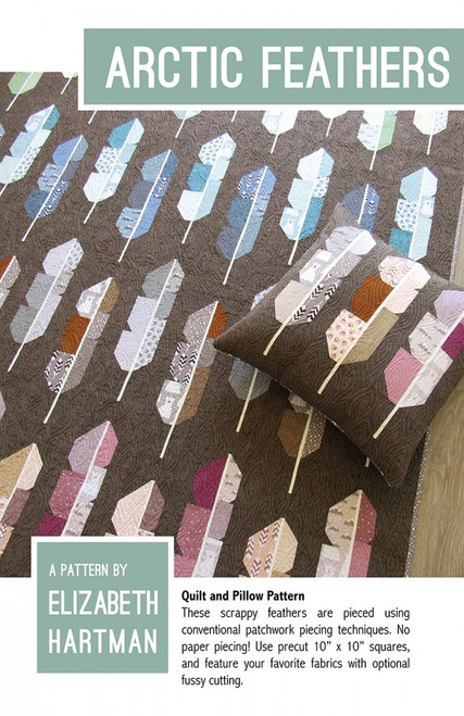 Arctic Feather paper quilt pattern by Elizabeth Hartman. Available at Purple Stitches in UK