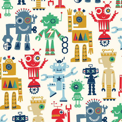 Playtime - Robot, Dashwood Studio, available from Purple Stitches , Hampshire, UK