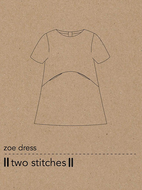Two Stitches Zoe Dress sewing Pattern, Two stitches, available from Purple Stitches UK. Dressmaking Patterns for Children's clothes