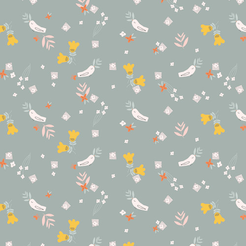 Emi & the Bird by Jilly P for Dashwood Studio, available from Purple Stitches, Hampshire, UK