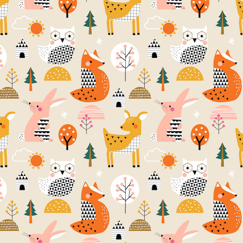 Geo Forest by Wendy Kendall for Dashwood Studio, available from Purple Stitches, Hampshire, UK