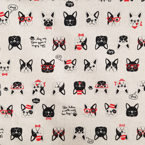 Dogs on Canvas, Japanese Canvas, Available from Purple Stitches, UK