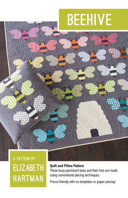 Beehive paper quilt pattern by Elizabeth Hartman. Available at Purple Stitches, Basingstoke, North Hampshire in UK