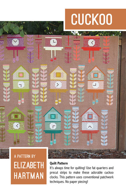 Cuckoo paper quilt pattern by Elizabeth Hartman. Available at Purple Stitches, Basingstoke, North Hampshire in UK