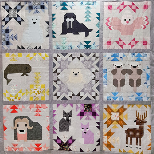 North Stars by Elizabeth Hartman, Block of the Month Programmme available from Purple Stitches, Basingstoke, Hampshire, UK