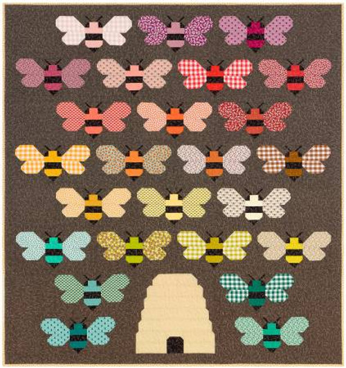Beehive Quilt Kit by Elizabeth Hartman, available from Purple Stitches , Basingstoke, North Hampshire, UK