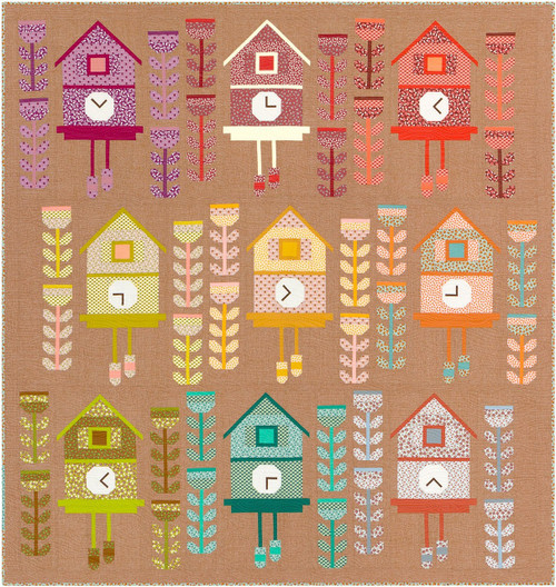 Cuckoo Quilt Kit by Elizabeth Hartman, available from Purple Stitches , Basingstoke, North Hampshire, UK