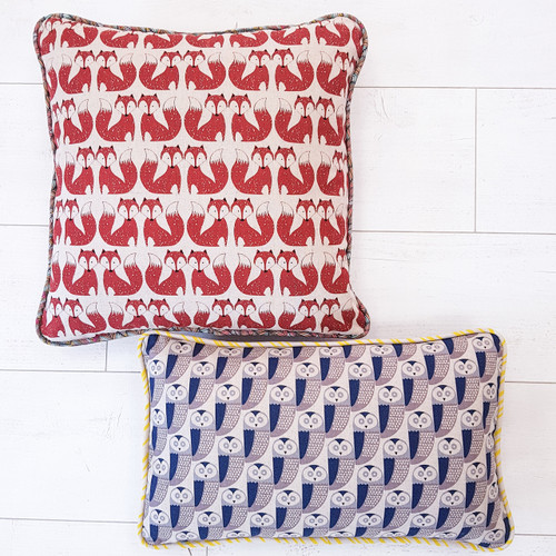 Pipped Cushion  Workshop with Ruth Nelson-White at Purple Stitches, North Hampshire, UK
