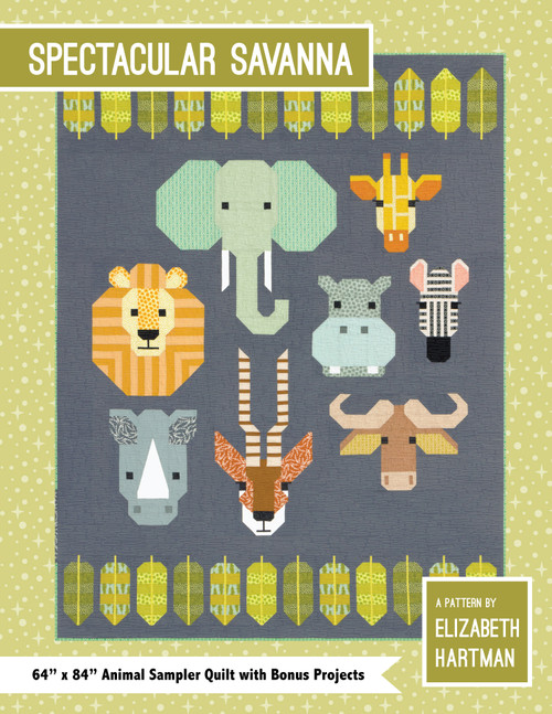 Spectacular Savana paper quilt pattern by Elizabeth Hartman. Available at Purple Stitches in UK
