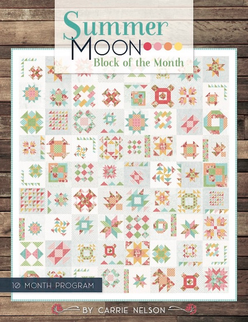 Summer Moon Pattern Book by Carrie Nelson.  Available from Purple Stitches, Hampshire UK