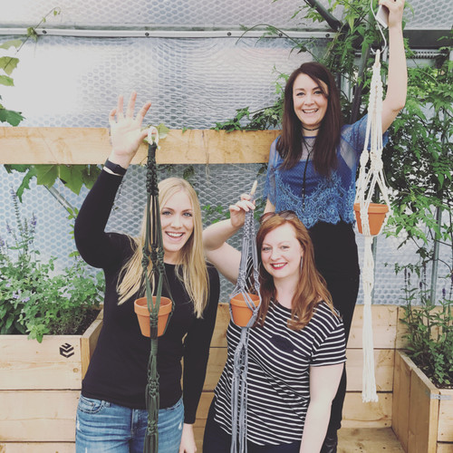 Macrame Plant Hanger Workshop with Isabella Strambio  at Purple Stitches, North Hampshire, UK
