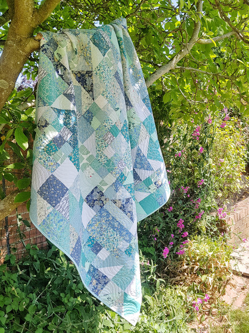 Summer Time quilt Pattern, Purple Stitches, Hampshire UK