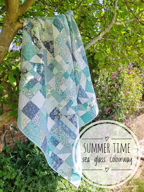 Summer Time quilt Kit, Purple Stitches, Hampshire UK