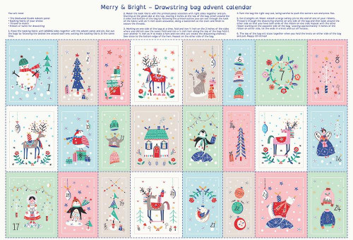 Advent calender pouch panel, Dashwood Studio, available from Purple Stitches , Hampshire, UK
