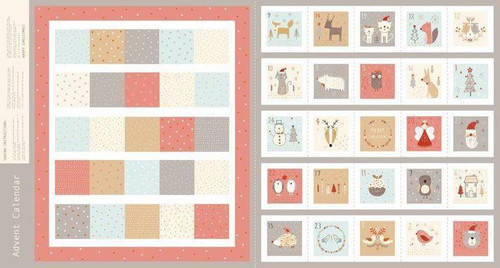 Metallic Advent Calender Panel by Dashwood Studio, Available from Purple Stitches, Hampshire UK.