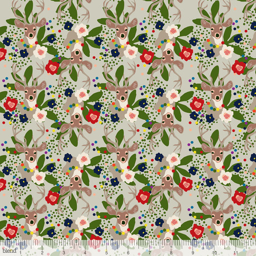 Christmas Fabric, A winter's tail by blend fabrics, available from Purple Stitches, Hampshire, UK