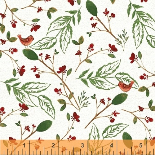 Christmas fabric, a walk in the woods by Windham fabrics, available from Purple Stitches, UK