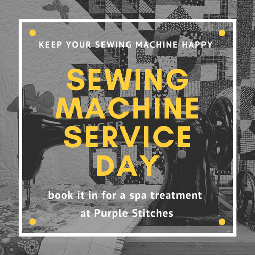 Sewing Machine service day at the Purple Stitches, Hampshire, UK