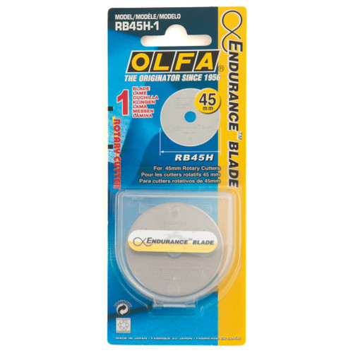 Endurance 45mm blade - Rotary Cutter Replacement Blade, available from Purple Stitches, Hampshire UK