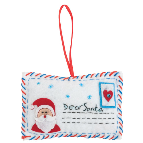Letter to Santa - Felt Decoration Kit - available from Purple Stitches, Hampshire UK