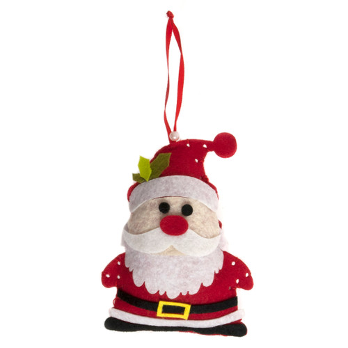 Santa - Felt Decoration Kit - available from Purple Stitches, Hampshire UK