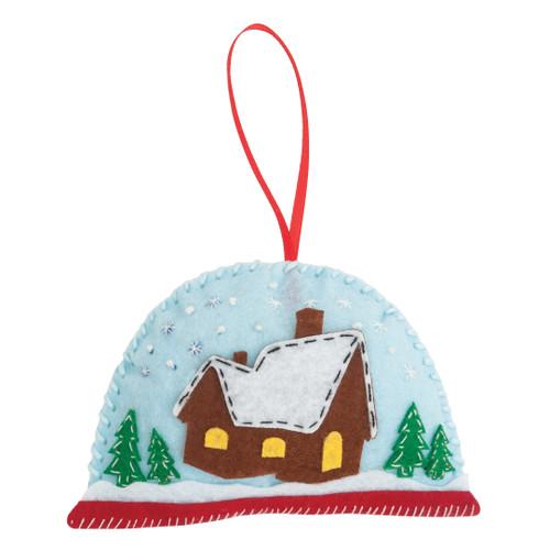 Snow Globe - Felt Decoration Kit - available from Purple Stitches, Hampshire UK