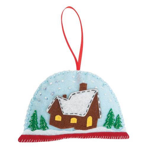 Snow Globe - Felt Decoration Kit - available from Purple Stitches, Hampshire UK