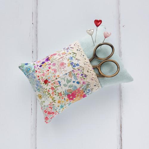 Pocket Pin Cushion Pattern, Purple Stitches, Hampshire UK