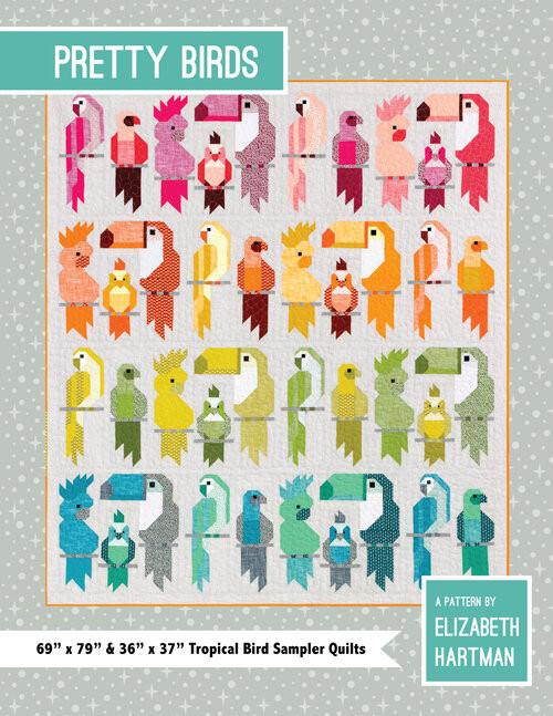 Pretty Bird Quilt Pattern,  Elizabeth Hartman, Available from Purple Stitches UK
