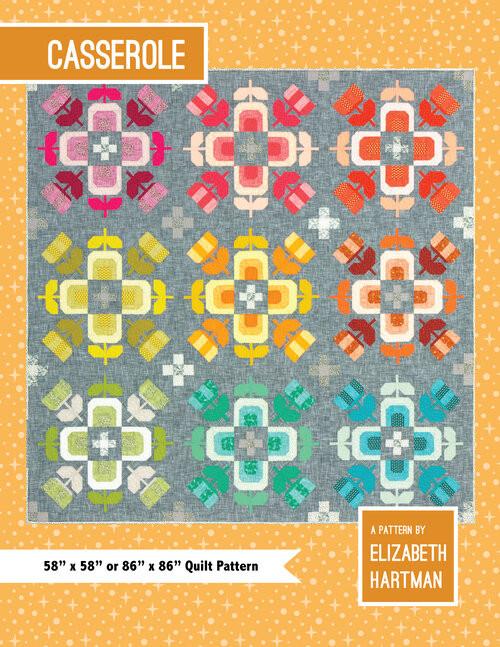 Casserole Quilt Pattern,  Elizabeth Hartman, Available from Purple Stitches UK