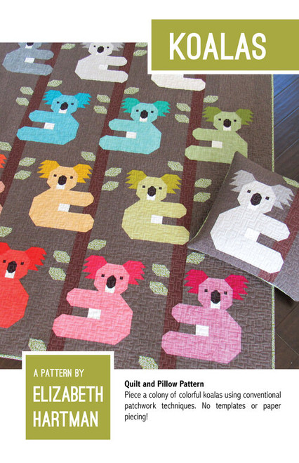 Koala Quilt Pattern, Elizabeth Hartman, available from Purple Stitches UK