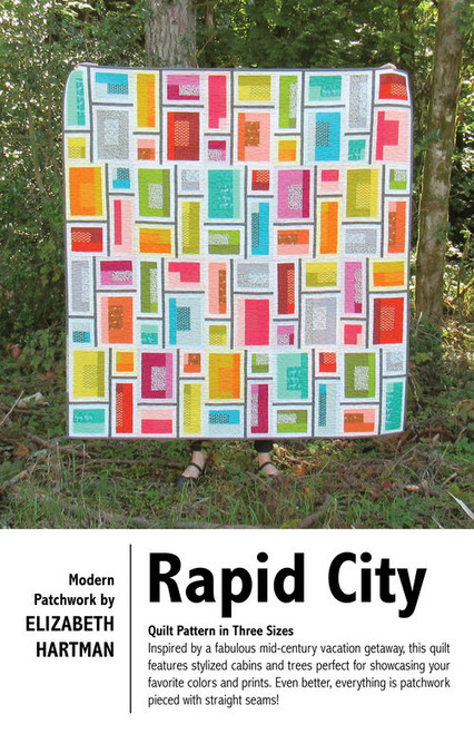 Rapid City - Elizabeth Quilt Pattern, Available from Purple Stitches, Hampshire, UK