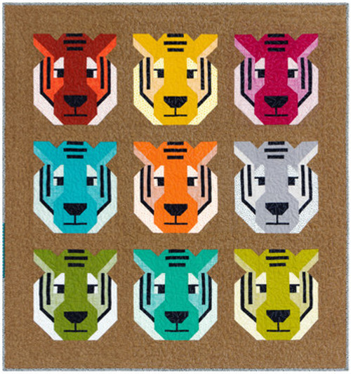 Antonia Tiger Quilt Kit - Elizabeth Hartman, available from Purple Stitches, Hampshire UK