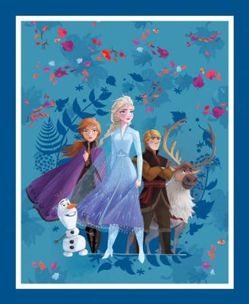 Disney Frozen 2 fabric Panel, friends forever - Multicolour - Springs Creative Products, available from Purple Stitches, Hampshire, UK