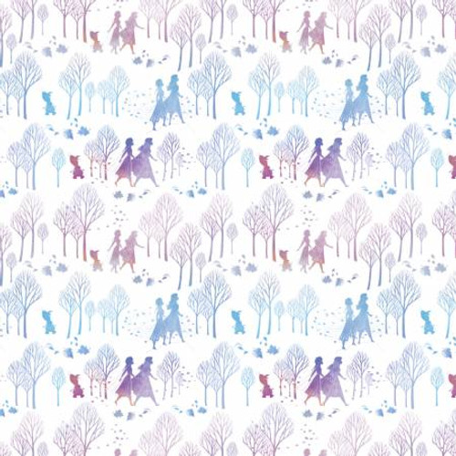 Disney Frozen 2, Anna Elza and trees, by Spring Creative, available from Purple Stitches, Hampshire, UK
