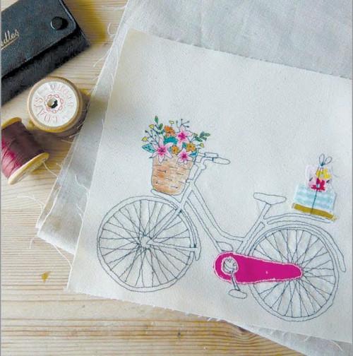 Free hand machine embroidery workshop, Basingstoke, Hampshire UK, Purple Stitches