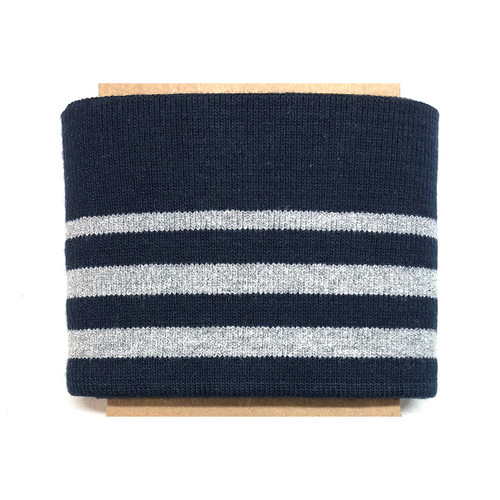 Cotton Jersey Cuffs with Metallic Stripes, Oeko-tex certified, Available from Purple Stitches, Hampshire UK